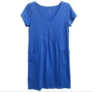 J.Jill | Blue Short Sleeve V-Neck Knit Dress XSP